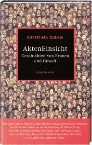 """Cover des Buches """"Akteneinsicht"""". Darauf sind die Gesichter vieler unterschiedlicher Frauen illustriert. Muttig steht der Titel des Buches geschrieben."""